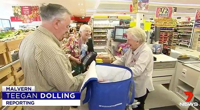 Brenda Palmer has worked at Malvern Coles since it opened. Source: 7 News