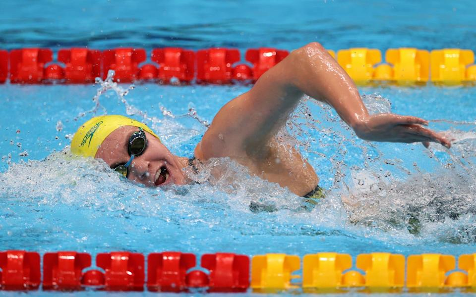 Ariarne Titmus is about to take on Katie Ledecky - GETTY IMAGES