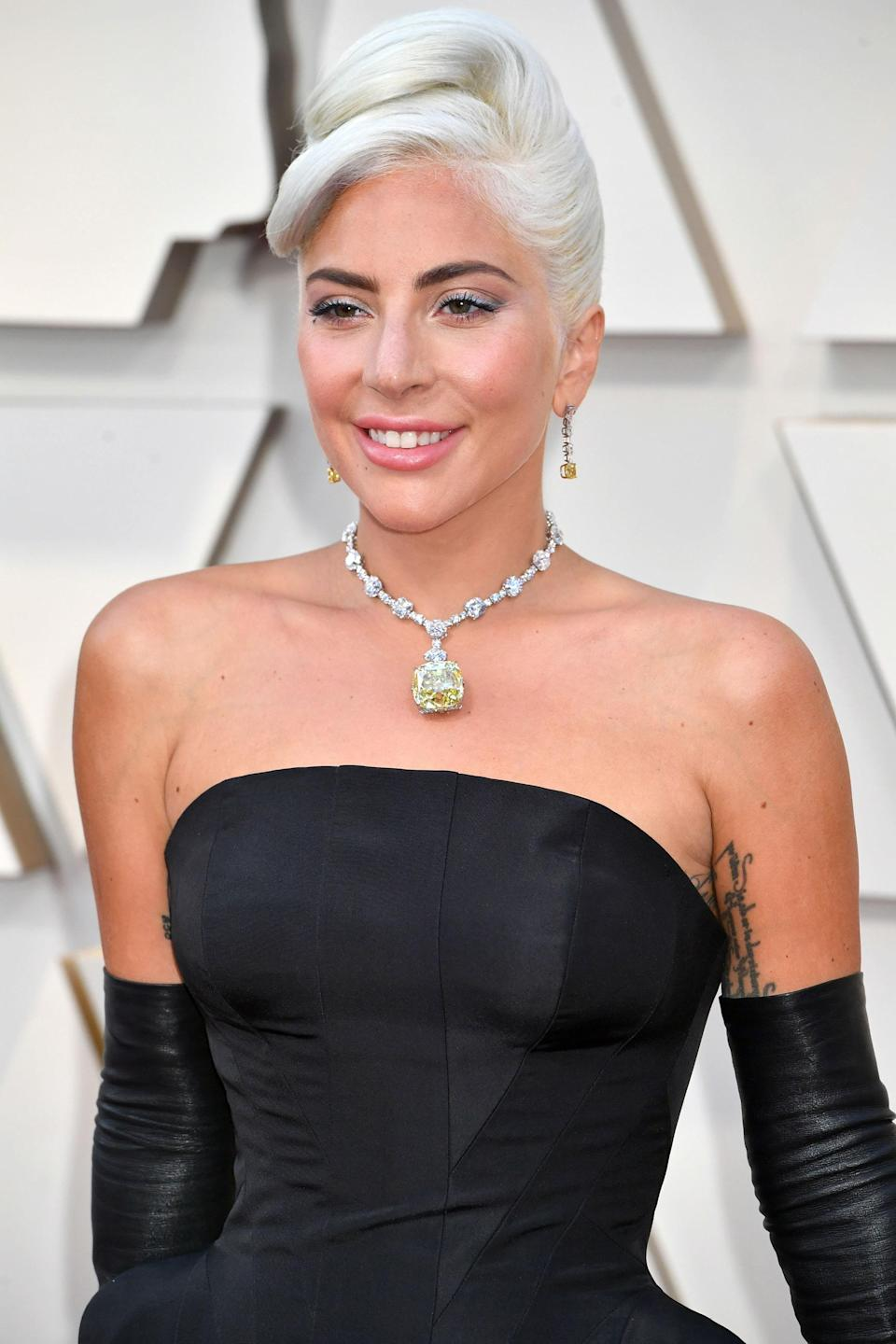 The Oscars ended the decade on a high note with Lady Gaga's revival of the Tiffany diamond. Only worn by three people—Gaga, Audrey Hepburn, and socialite Mrs. Mary Whitehouse—the 128-carat piece is valued at more than $30 million. Dollar signs aside, the fantastic yellow diamond was the cherry on top of a stellar night that saw the star take home her first Academy Award.