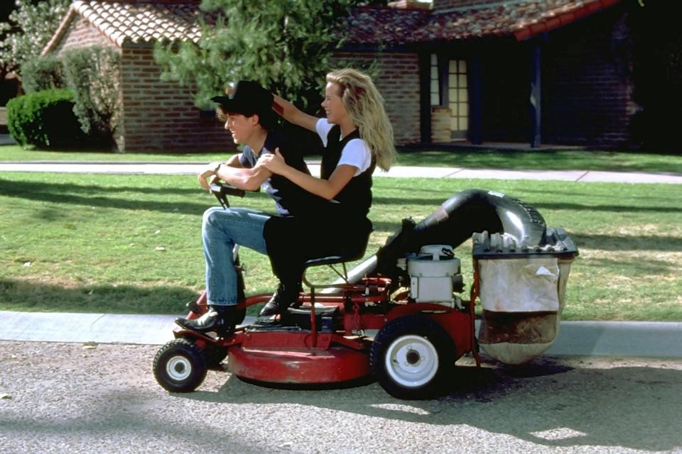<ul> <li><strong>What to wear for Cindy:</strong> The iconic white patterned suit with black shirt underneath.</li> <li><strong>What to wear for Ronnie:</strong> Go for the lawnmower cowboy look with jeans, a black shirt, black pointed boots and top it off with a black cowboy hat.</li> </ul>
