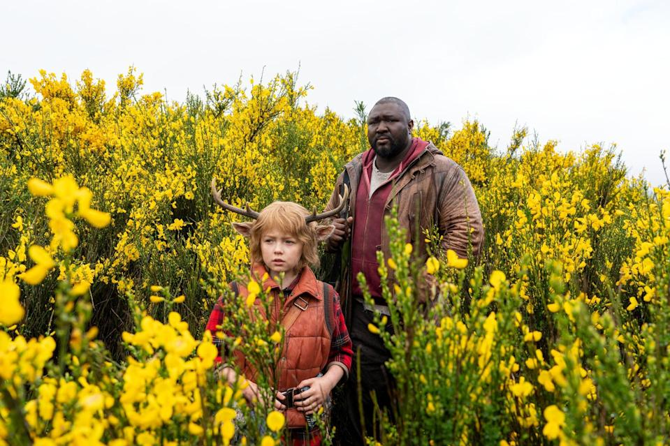 SWEET TOOTH (L to R) CHRISTIAN CONVERY as GUS and NONSO ANOZIE as TOMMY JEPPERD in episode 102 of SWEET TOOTH Cr. KIRSTY GRIFFIN/NETFLIX  2021