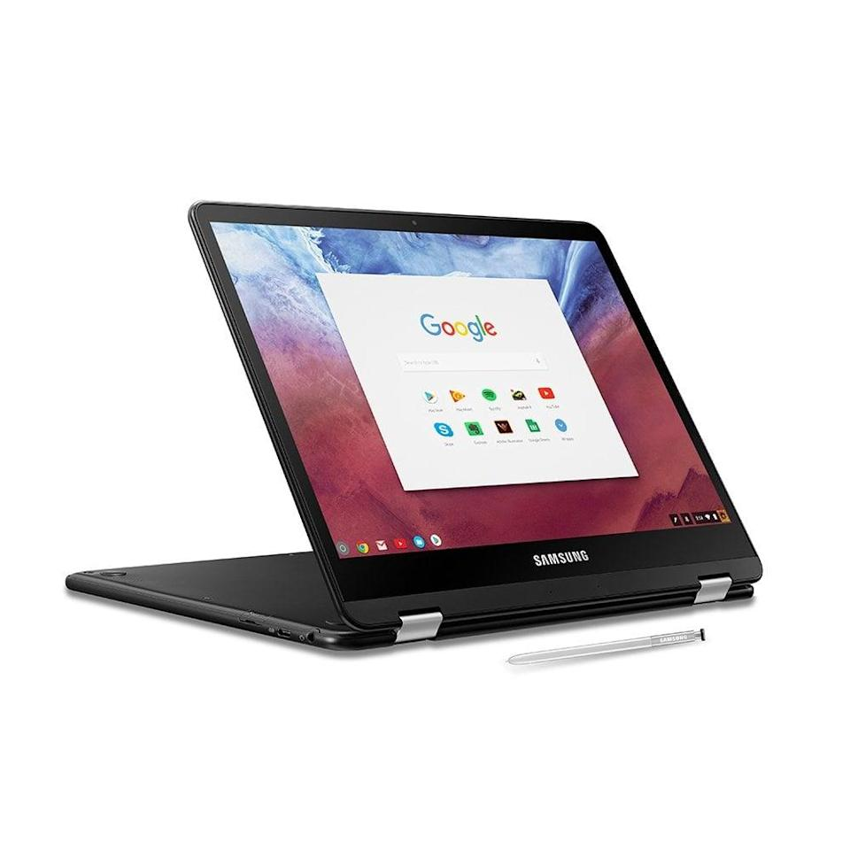 <p>You can use this <span>Samsung Chromebook Pro Convertible Touch Screen Laptop</span> ($790) like both a laptop and tablet, which is so convenient.</p>