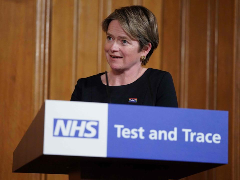 Dido Harding heads up the NHS Test and Trace programme