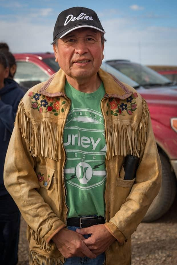 George Cleary on Sept. 5, 2016, in Deline. A new scholarship has been set up in memory of Cleary, who died in September 2020. (Tawna Brown - image credit)