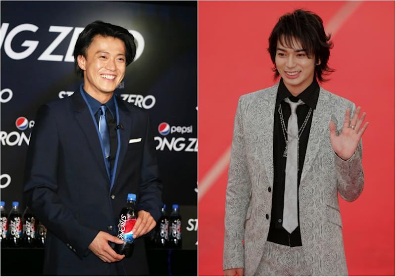 Shun Oguri and Jun Matsumoto. (Photos: Getty Images, Reuters)