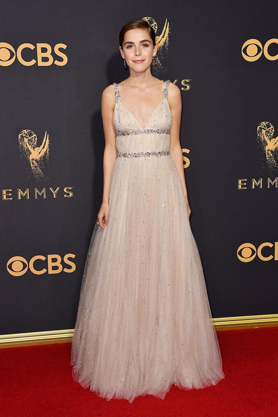 <p>Kiernan Shipka attends the 69th Annual Primetime Emmy Awards on September 17, 2017.<br> (Photo: Getty Images) </p>