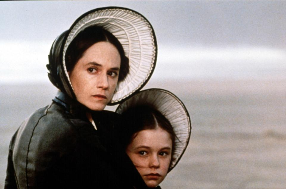 "<p><em>The Piano</em>, a dark romantic drama set in the 19th century, was a huge critical and commercial success when it came out in 1993. Holly Hunter and Anna Paquin won Best Actress and Best Supporting Actress, respectively, for their roles as a mute woman and her young daughter who are sent to New Zealand after Hunter's character is forced into an arranged marriage.</p> <p><em>Available to rent on</em> <a href=""https://www.amazon.com/Piano-Holly-Hunter/dp/B00DNO2LFC"" rel=""nofollow noopener"" target=""_blank"" data-ylk=""slk:Amazon Prime Video"" class=""link rapid-noclick-resp""><em>Amazon Prime Video</em></a><em>.</em></p>"