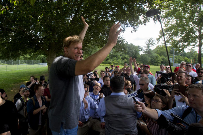 Former Louisiana State Rep. David Duke arrives to give remarks after a white nationalist protest was declared an unlawful assembly, Aug. 12 in Charlottesville, Va. (Photo: Shaban Athuman /Richmond Times-Dispatch via AP)