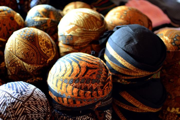 Javanese cap: Iket, a Yogyakarta traditional cap which has become the 'must have' souvenir when you visit Malioboro. (