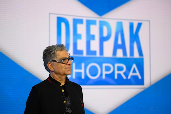 TODAY -- Pictured: Deepak Chopra on Monday, April 8, 2019 -- (Photo by: Nathan Congleton/NBCU Photo Bank/NBCUniversal via Getty Images via Getty Images)