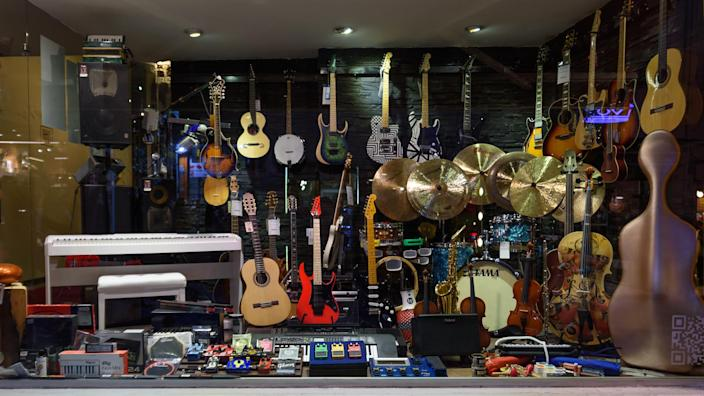 Istanbul, Turkey; October 25, 2018: Music shop from Istiklal Street, most known district from the Istanbul.