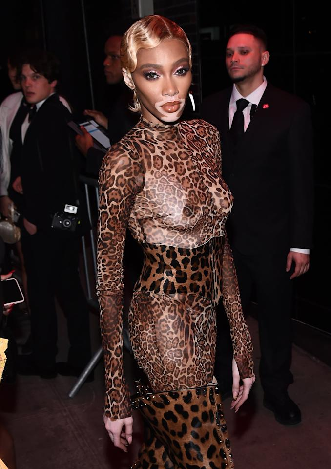 Winnie Harlow's Leopard Catsuit at the Met Gala Afterparty Is - Pardon the Pun - Purrfect