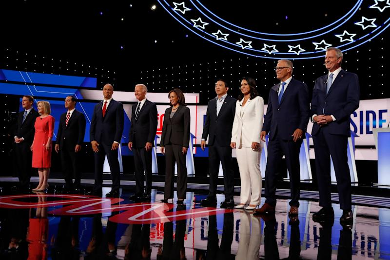 As the field of Democratic presidential candidates begins to narrow, there could be dramatic shifts in how voters view the remaining candidates. The field has already begun to shrink from July's two-night CNN-sponsored debate in Detroit. (Photo: Carlos Osorio/ASSOCIATED PRESS)