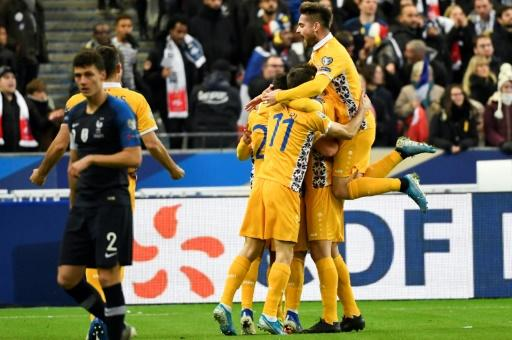 Moldova scored just their third goal of the qualifying campaign to grab a shock lead against world champions France