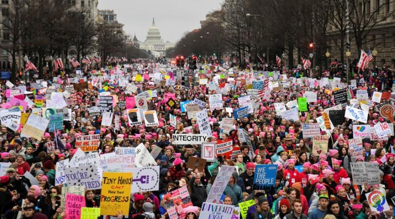 U.S. National Archives removes exhibit that altered images of Women's March
