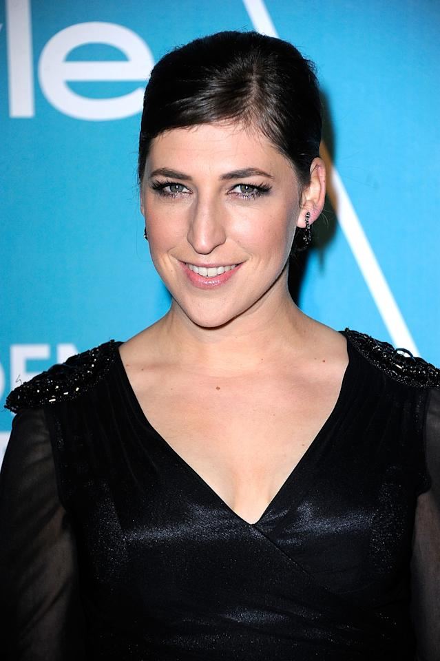 "Actress Mayim Bialik arrives at The Hollywood Foreign Press Association (HFPA) and InStyle Presents ""A Night Of Firsts"" at Cecconi's Restaurant on December 8, 2011 in Los Angeles, California.  (Photo by Frazer Harrison/Getty Images)"