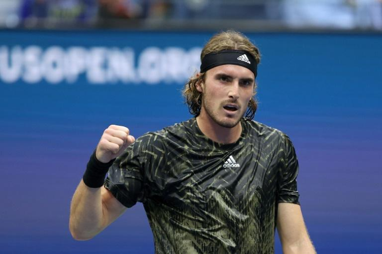 Greek third seed Stefanos Tsitsipas took a five-set victory over Britain's Andy Murray on Monday at the US Open (AFP/ELSA)