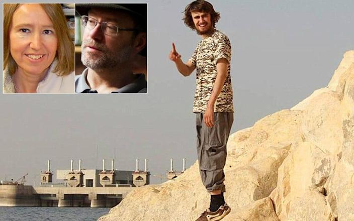 Jack Letts, the only white British Muslim convert to join Isil, pictured near the Tabqa Dam outside of Raqqa in Syria