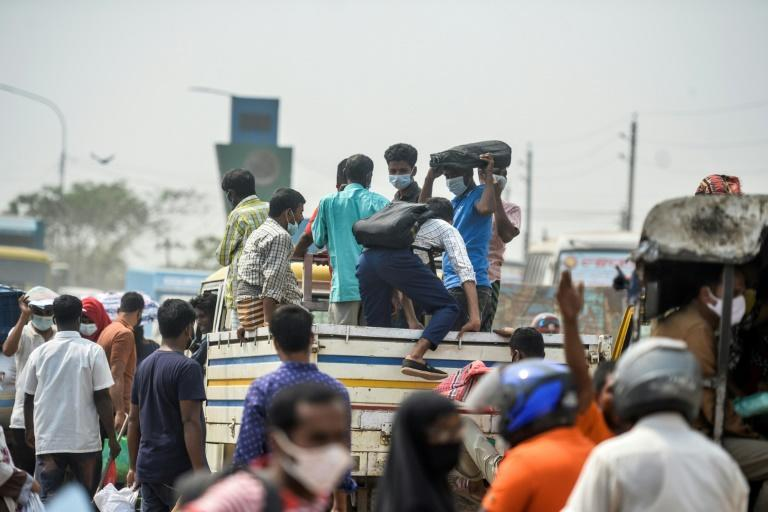 Most people leaving are informal workers in Dhaka stores, offices and markets