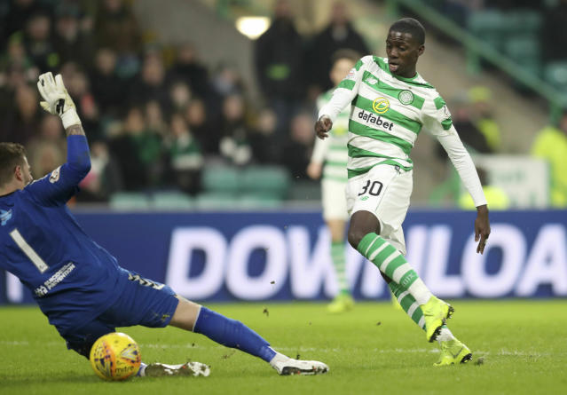 Celtic's Tim Weah (above) and Schalke's Weston McKennie both cracked the scoresheet for their clubs over the weekend. (Jane Barlow/AP)