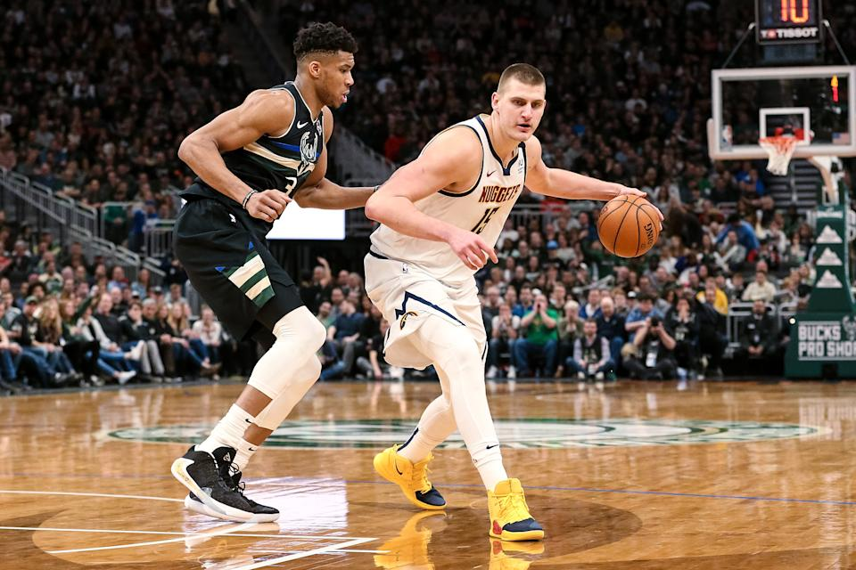 Can MVP candidates Giannis Antetokounmpo and Nikola Jokic lead their teams to a title? (Dylan Buell/Getty Images)