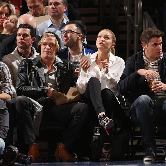 <p>Gigi Hadid attends the Brooklyn Nets game against the New York Knicks in 2015. </p>