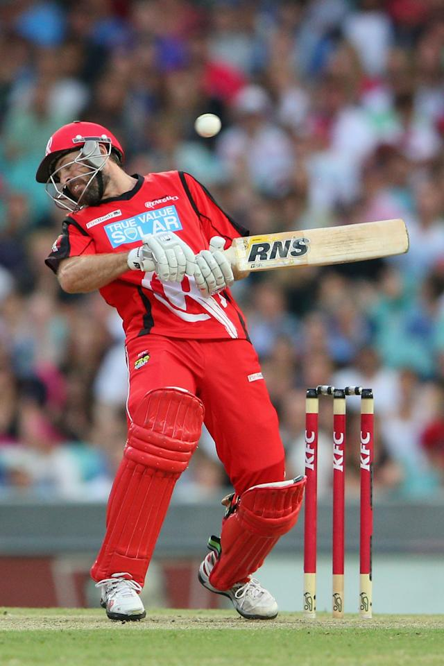 SYDNEY, AUSTRALIA - JANUARY 09:  Ben Rohrer of the Renegades ducks under a bouncer during the Big Bash League match between the Sydney Sixers and the Melbourne Renegades at SCG on January 9, 2013 in Sydney, Australia.  (Photo by Cameron Spencer/Getty Images)