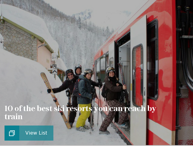 10 of the best ski resorts you can reach by train