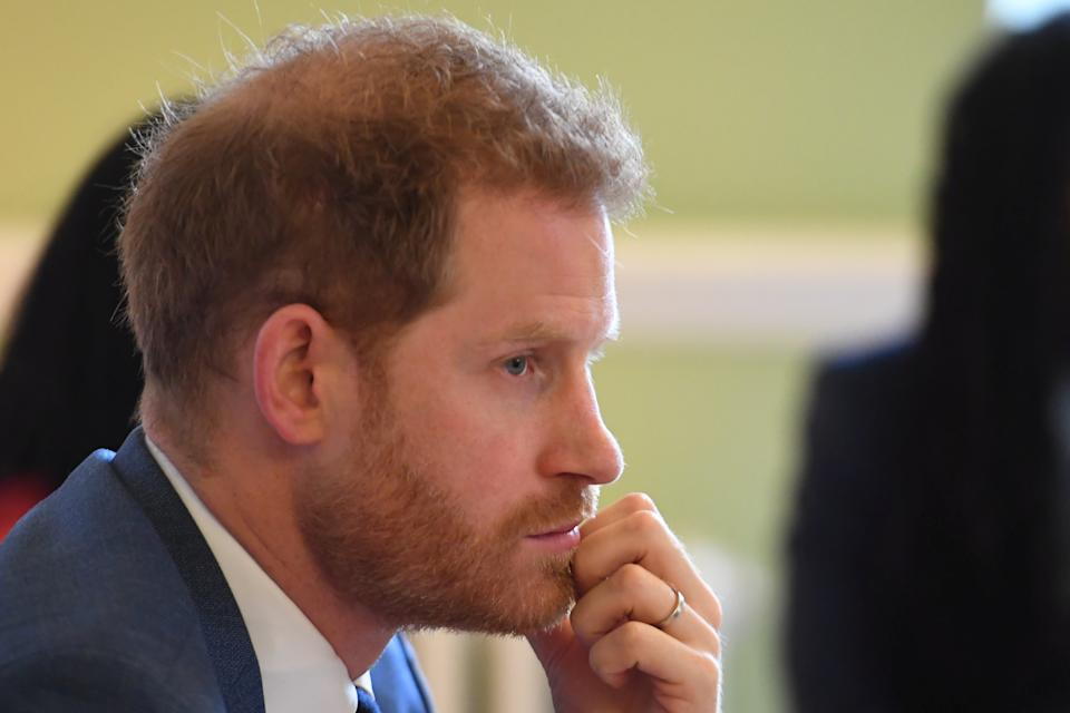 Britain's Prince Harry, Duke of Sussex, attends a roundtable discussion on gender equality with The Queen's Commonwealth Trust (QCT) and One Young World at Windsor Castle, Windsor, Britain October 25, 2019. Jeremy Selwyn/Pool via REUTERS