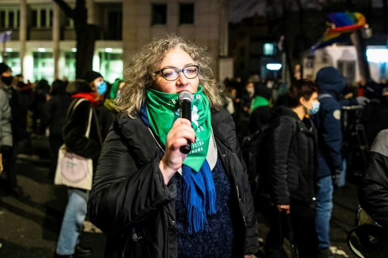 Women's Strike movement leader Marta Lempart, seen in January 2021, has been slapped with charges after leading the protests for abortion rights in Poland