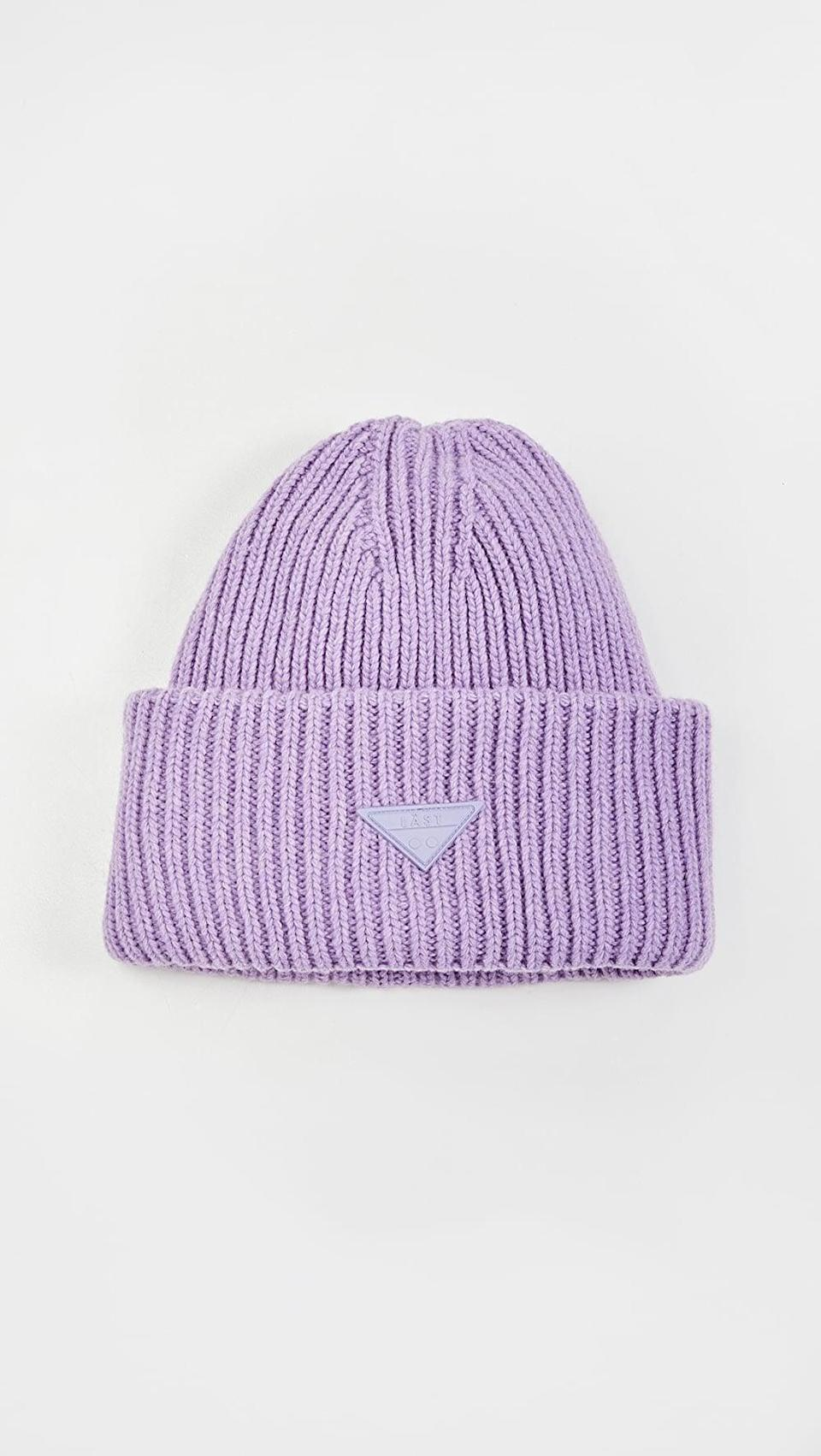 <p>We love the look of this <span>Last Oversize Lavender Hat</span> ($95).</p>