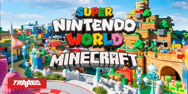 Fanático recrea Super Nintendo World en Minecraft