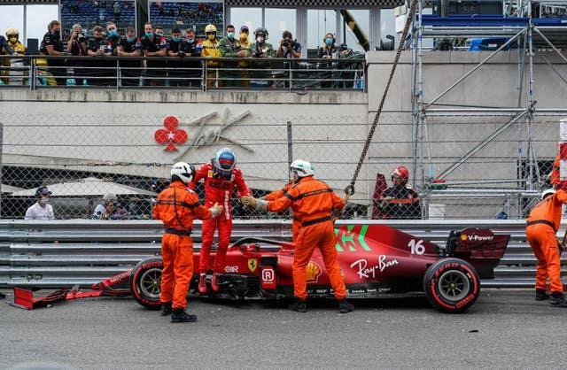 Leclerc finished in the barriers