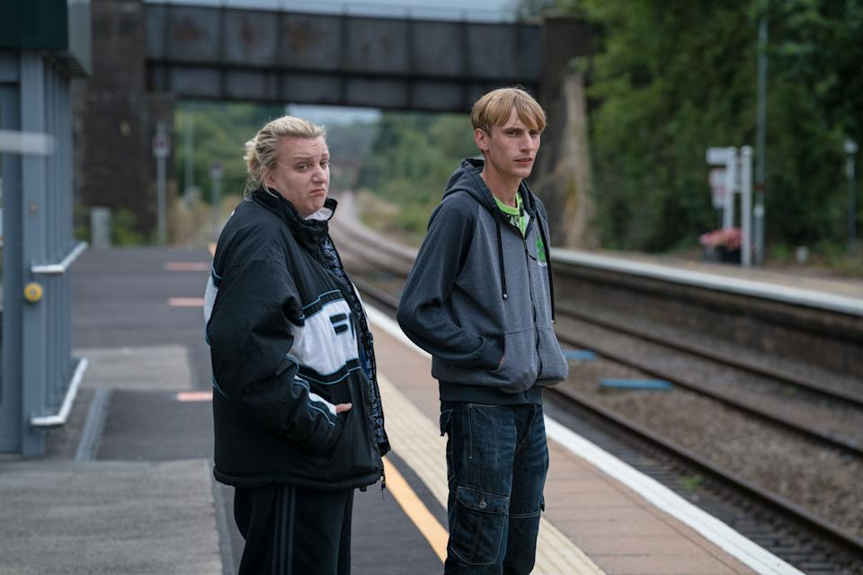 Kerry (DAISY MAY COOPER), Kurtan (CHARLIE COOPER) - in This Country. (BBC - Photographer: Jack Barnes)