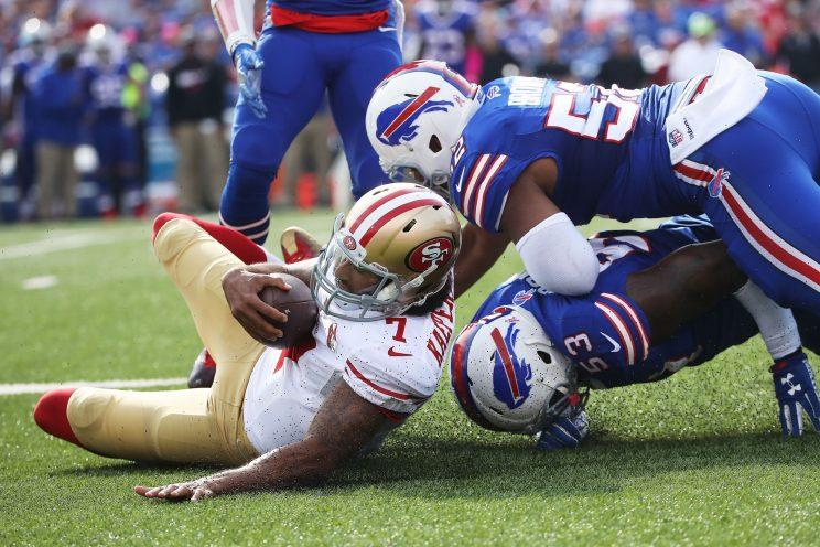 Colin Kaepernick returned but the W's didn't for the 49ers on Sunday. (Getty Images)