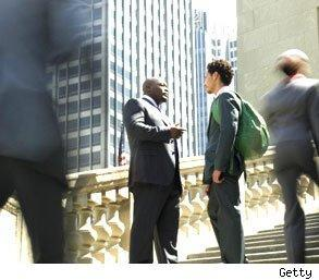 men benefit from networking