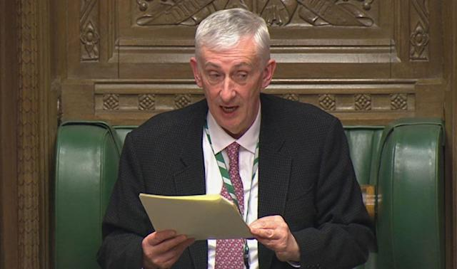 The final decision on whether to close Parliament would rest with Speaker Sir Lindsay Hoyle. (AP)