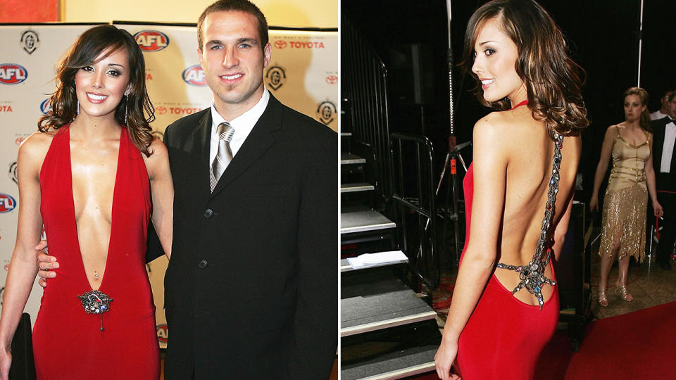 Chris and Bec Judd, pictured here the 2004 Brownlow Medal.