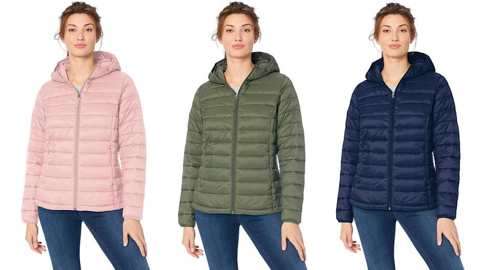 The Amazon Essentials Packable Puffer Jacket comes in a slew of colors. (Photo: Amazon)