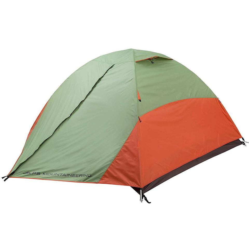 """<p><strong>ALPS Mountaineering</strong></p><p>amazon.com</p><p><strong>$129.93</strong></p><p><a href=""""http://www.amazon.com/dp/B00AU6JUXM/?tag=syn-yahoo-20&ascsubtag=%5Bartid%7C2139.g.28339425%5Bsrc%7Cyahoo-us"""" target=""""_blank"""">BUY IT HERE</a></p><p>Building your camping tent can be a pain, but ALPS' stellar four-person camping tent makes assembling a breeze with a free-standing two-pole design. Two entry ways, a mesh window and roof, and a gear loft storage space for extra room make this a top-choice for any party of four. </p>"""