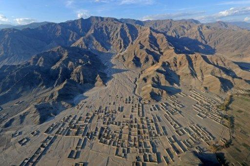 An aerial view of Afhanistan's eastern Kunar province