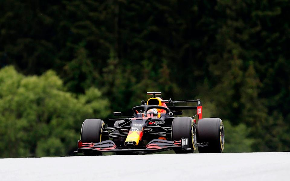 Red Bull's Dutch driver Max Verstappen steers his car during the second practice session at the Austrian Formula One Grand Prix on July 3, 2020 in Spielberg, Austria. - Seven months after they last competed in earnest, the Formula One circus will push a post-lockdown re-set button to open the 2020 season in Austria on July 5 - DARKO BANDIC/POOL/AFP via Getty Images