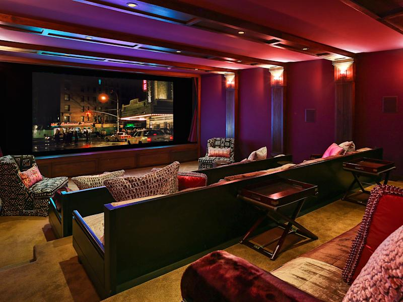 The movie theatre in J.Lo's Bel Air home.