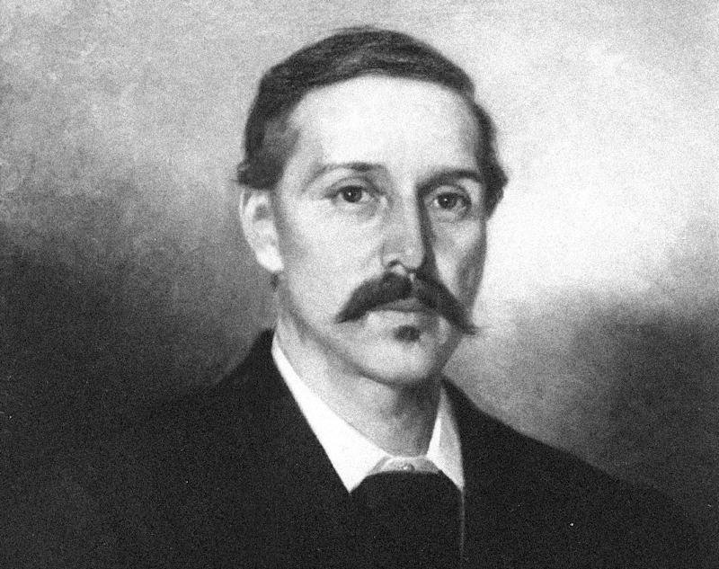 "FILE - This undated photo showing an oil painting released by the Silverado Museum collection shows Scottish novelist, poet, and essayist Robert Louis Stevenson, painted by French artist Ernest Narjot.  Stevenson is the author of ""Treasure Island"" and ""Dr. Jekyll and Mr. Hyde,"" some of the most thrilling stories in literary history. But he was often bored by the fiction of his day. Stevenson's criticisms appear in a brief, long-lost essay published this month in The Strand Magazine, a quarterly based in Birmingham, Mich. that specializes in the rediscovery of obscure texts by famous authors. (AP Photo/Silverado Museum, Ernest Narjot)"