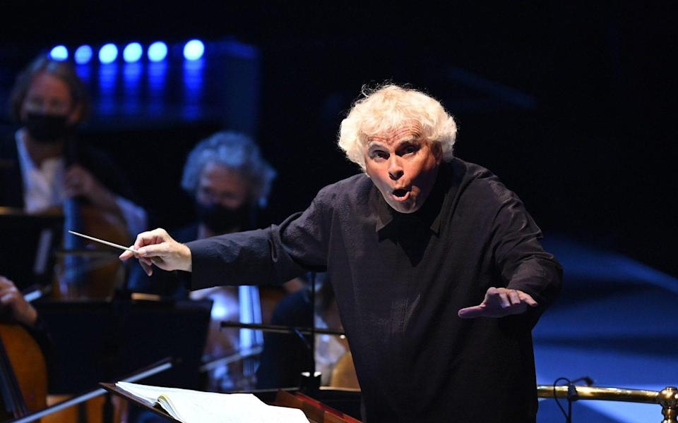 Simon Rattle and the LPO at the Proms - BBC/Chris Christodoulou
