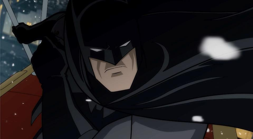 Batman, as he appears in the animated film The Long Halloween.