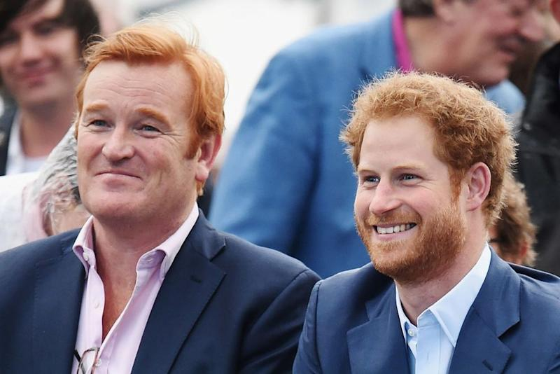 Mark Dyer and Prince Harry | DOMINIC LIPINSKI/AFP via Getty Images