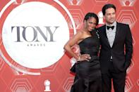 <p>McDonald — who is hosting the awards <em>and </em>up for a Tony for best actress in a play for her performance in <em>Frankie and Johnny in the Clair de Lune — </em>arrives with husband Will Swenson. </p>