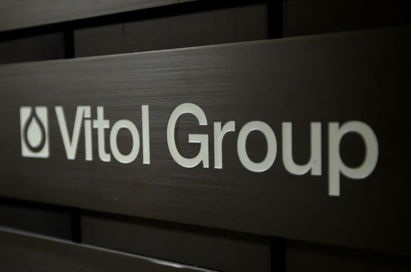 FILE PHOTO: A sign is pictured in front of the Vitol Group trading commodities company building in Geneva