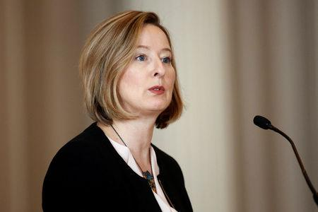 FILE PHOTO: Bank of Canada Senior Deputy Governor Wilkins takes part in an event in Ottawa